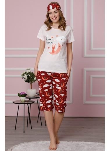 Akbeniz Pijama Takım Bordo